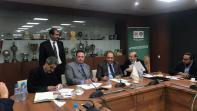 بالصور. حسبان يوقع اتفاقية مشاركة الرجاء في البطولة العربية 12