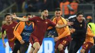 ليلة من الجنون في روما بعد إقصاء برشلونة من دوري الأبطال