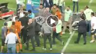 بالفيديو. مشجع الزمالك يستفز لاعبي بركان بعد نهاية المباراة
