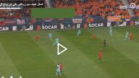 بالفيديو. تدخل عنيف من رونالدو على لاعب برشلونة الجديد