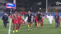 بالفيديو. لاعبو أكاديمية محمد السادس يتغنون بأغنية للرجاء بعد التأهل