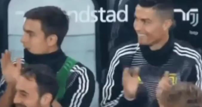 بالفيديو. ردة فعل رونالدو بعد هدف كين