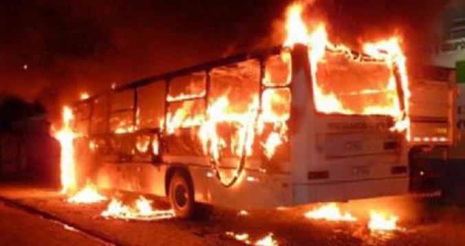 حرق الحافلة