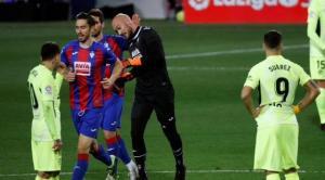 بالفيديو. حارس إيبار يسجل هدف التقدم لفريقه أمام أتلتيكو مدريد