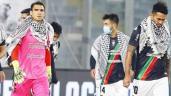 بالفيديو. لاعبي وجماهير بالستينو التشيلي يدعمون فلسطين